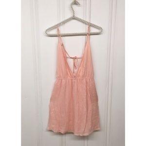 TOBI Pink Cage Back Mini Dress Size Small Petite